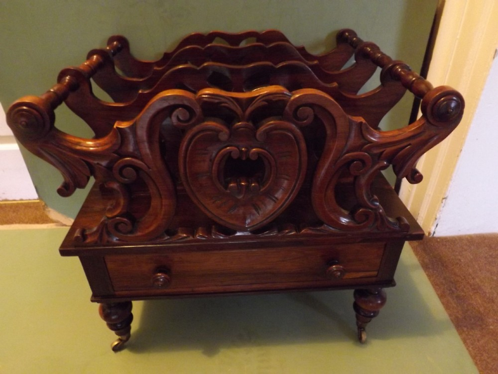 c19th william iv period rosewood music canterburymagazine rack